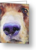 Pat Greeting Cards - The Sniffer Greeting Card by Pat Saunders-White