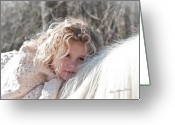 Storybook Greeting Cards - The Snow Bunny Greeting Card by Terry Kirkland Cook
