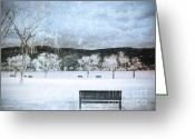 Winter Storm Digital Art Greeting Cards - The Snow Storm Greeting Card by Tara Turner