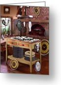 Fireplace Greeting Cards - The Soft Clock Shop 2 Greeting Card by Mike McGlothlen