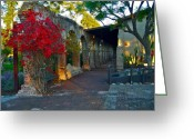 Bougainvillea Greeting Cards - The Soldiers Barracks San Juan Capistrano Mission California Greeting Card by Karon Melillo DeVega