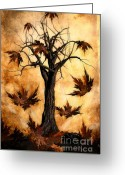 Autumnal Digital Art Greeting Cards - The song of Autumn Greeting Card by John Edwards