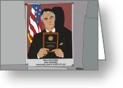 Tv Show Greeting Cards - The Sopranos - Paulie Gualtieri Greeting Card by Tomas Raul Calvo Sanchez