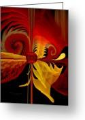 Fractal Art Pastels Greeting Cards - The Soul Sees What is Within Greeting Card by Gayle Odsather