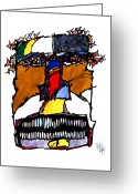Metis Art Greeting Cards - The Soul Thief  Greeting Card by Dan Daulby