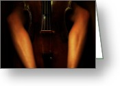 Erotic Women Greeting Cards - The Sound of Eroticism Greeting Card by Steven ...