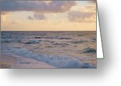 Surf Silhouette Greeting Cards - The Sound of Peace Greeting Card by E Luiza Picciano