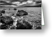 Pebbles Greeting Cards - The sound of the waves Greeting Card by John Farnan