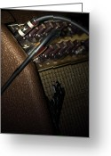 Amplifier Greeting Cards - The Sound of Vintage Tweed  Greeting Card by Steven  Digman