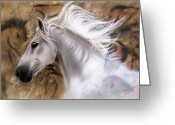 Wolf Song Studio Greeting Cards - The Source II Greeting Card by Sandi Baker
