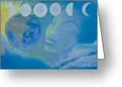 Sacred Feminine Greeting Cards - The Source  Greeting Card by Karen Feiling