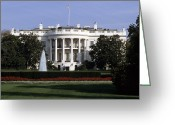 Presidency Greeting Cards - The South Side Of The White House Greeting Card by Taylor S. Kennedy