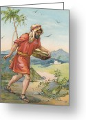 Seed Sower Greeting Cards - The Sower Greeting Card by Ambrose Dudley