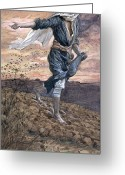 Hear Greeting Cards - The Sower Greeting Card by Tissot