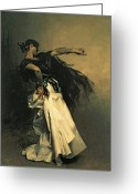 1856 Greeting Cards - The Spanish Dancer Greeting Card by John Singer Sargent