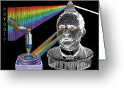 Electro-montage Greeting Cards - The Spectre of Chromatopia Greeting Card by Eric Edelman