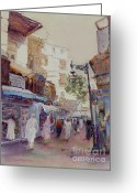 Spice Painting Greeting Cards - The Spice Souq Greeting Card by Dorothy Boyer