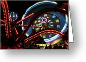 Big Wheel Greeting Cards - The Spider Trap Greeting Card by Barbara  White