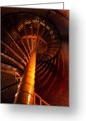 Staircase Greeting Cards - The Spiral At Barnegat Greeting Card by Skip Willits