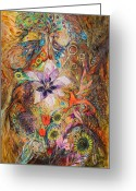Elena Kotliarker Greeting Cards - The Spirit of Garden Greeting Card by Elena Kotliarker