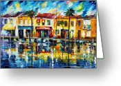 Europe Painting Greeting Cards - The Spirit Of Miami  Greeting Card by Leonid Afremov