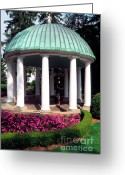 Upscale Greeting Cards - The Spring House Greeting Card by Thomas R Fletcher