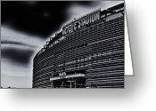 Ny Jets Greeting Cards - The Stadium Greeting Card by Ryan Crane