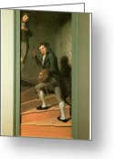 Painters Greeting Cards - The Staircase Group Greeting Card by Charles Wilson Peale