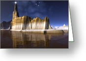 Star Of Bethlehem Greeting Cards - The Star of Bethlehem Greetings to the World Greeting Card by H G Mielke