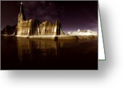 Star Of Bethlehem Greeting Cards - The Star of Bethlehem Greeting Card by H G Mielke