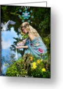 Pouring Greeting Cards - The Star Greeting Card by Tammy Wetzel