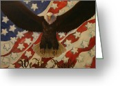 We The People Greeting Cards - The Stars of America Greeting Card by Ruth Ann Murdock