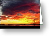 Sunset Wall Art Greeting Cards - The Start of A Colorful  Day Colorado Sunrise Image Greeting Card by James Bo Insogna