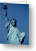 October Greeting Cards - The Statue of Liberty Greeting Card by American School