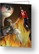 Ballet Dancer Greeting Cards - The Steadfast Tin soldier ...the envy... Greeting Card by Alessandro Della Pietra