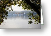 Folage Greeting Cards - The Steamboats at Lake George New York Greeting Card by David Patterson