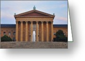 Philadelphia Museum Of Art Greeting Cards - The Steps of the Philadelphia Museum of Art Greeting Card by Bill Cannon