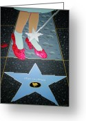 Starlet Greeting Cards - The Stony Avenue To Fame Greeting Card by Ingrid Stiehler