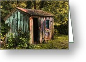 Digital Image Greeting Cards - The Storage Shed Greeting Card by Tom Prendergast