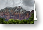 Utah Weather Greeting Cards - The Storm Clears Greeting Card by Loree Johnson