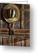 Cowboy Hat Photo Greeting Cards - The Straw Hat Greeting Card by Karen Slagle