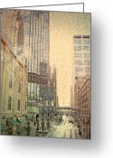 Layer Digital Art Greeting Cards - The Streets of Minneapolis Greeting Card by Susan Stone