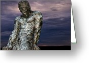 Syracuse Greeting Cards - The Struggle of Elemental Man Greeting Card by Vicki Jauron