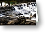 Mist Posters Greeting Cards Greeting Cards - The Stumble Falls Greeting Card by Steve Buckenberger