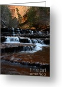 Sacred Earth Greeting Cards - The Subway North Creek Greeting Card by Bob Christopher
