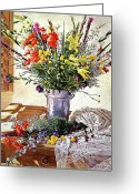 Featured Artist Painting Greeting Cards - The Summer Room Greeting Card by David Lloyd Glover