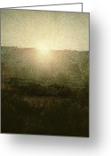 Good Morning Greeting Cards - The Sun Greeting Card by Giuseppe Pellizza da Volpedo