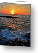 Marvelous Greeting Cards - The Sun is Wearing Shades Greeting Card by Robert Harmon