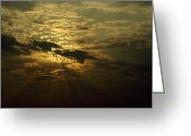 Image Type Photo Greeting Cards - The Sun Obscured By A Late Afternoon Greeting Card by Jason Edwards
