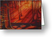 Lit Pastels Greeting Cards - The Sun Streamed In Greeting Card by Sandra Ragan